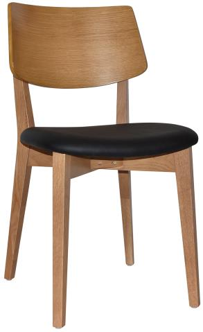 Jersey Light Oak Upholstered Chair